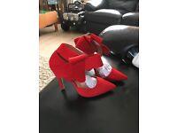 Ladies red high heels