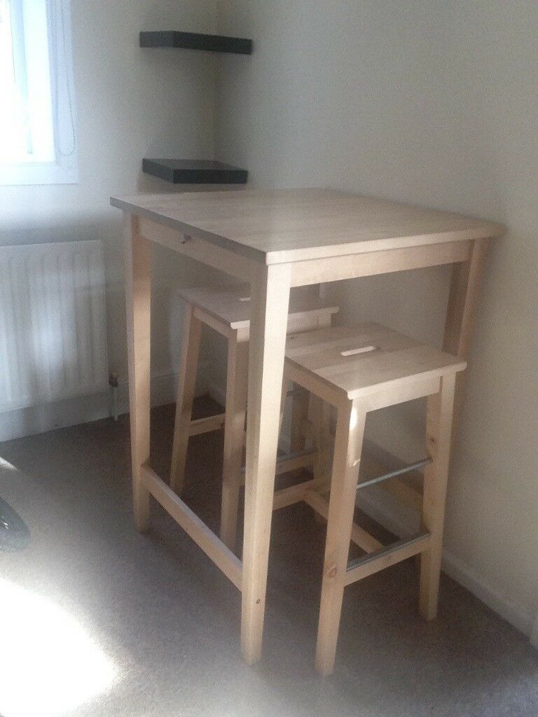 Ikea Bjorkudden Breakfast Bar Table And 2 Ikea Bosse