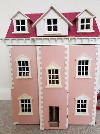 Lovely wooden doll house