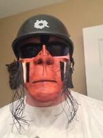 One of A Kind Solid Leather Riding Masks By Sanctuary Masks.