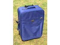 Medium Royal Blue Jade fabric suitcase holiday
