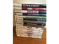 Xbox 360 games -16 boxed games