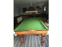 Superb custom made slate bed snooker table with all accessories