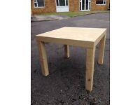 coffee table and a single chair