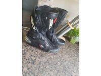 Sidi Vertigo Evo Black Armoured Sports Touring Motorcycle Boot