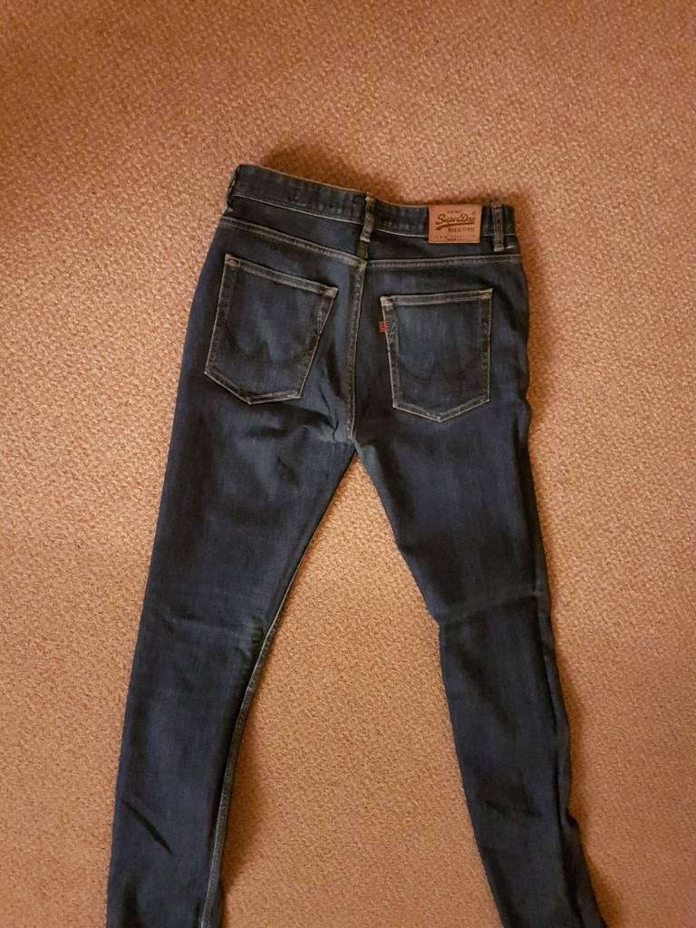 Superdry skinny jeans 32w 34l