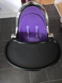 Fresco Bloom Mercury High Chair with Newborn Insert