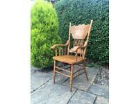 Pine carved chair SHABBY CHIC Vintage