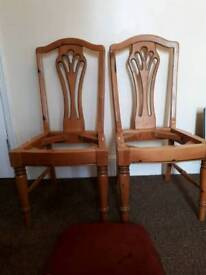 Two Solid dining chairs Ducal