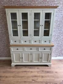 150cm wide oak top farmhouse dresser