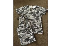 Kids Nike camouflage shorts and tshirt