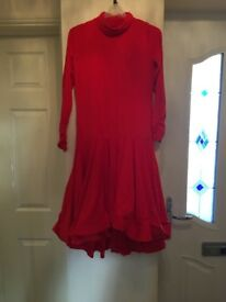New with tags on red party dress size 12-14