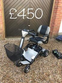 Quingo air lightweight foldable mobility scooter with loads of extras