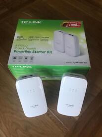 TP-Link 1Gb Ethernet over power adapter set