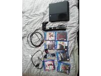 PS4 500GB, 8 games, HDMI lead, controller, charging cable, and cooling fan,