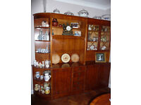 Dining Room Furniture, Extending Table, 4 chairs and 2 Carvers and Display Cabinet