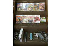 Nintendo White Wii Console big bundle with 10 games and extras PAL UK