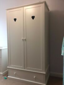childrens bedroom furniture - wardrobe, chest of drawers and bedside cabinet