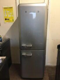 Smeg fridge freezer grey 3 months warranty free local delivery!!!!!!!!!