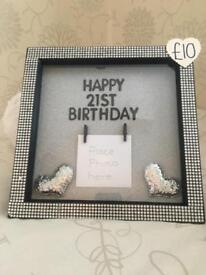 Handmade birthday frames