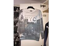 Light and dark blues NYC sweatshirt