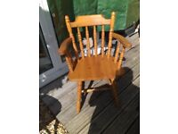 Wooden Captain's Chair in very good condition