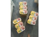 9 packs of nappies size 2 for 6-13lb