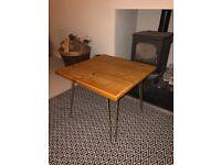 Bespoke reclaimed scaffold board coffee table