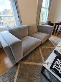 Modern 3-seater grey sofa for sale