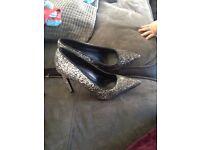 Glittery high heels