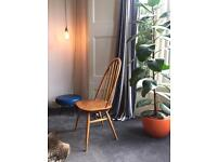 Ercol high curved backed original 1960's chair