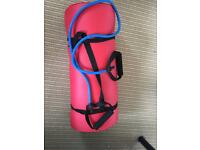 Exercise mat with resistance bands