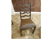 4 beautiful antique dining chairs