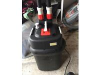 Fluval 106 External Filter for fish tank with pipe and media