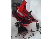 Phil And Teds Pushchair Double Twin Baby Buggy All Terrain Jogger & accessories