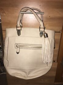Cream River Island Hand Bag Brand New (Tote, Shoulder, Shopper, Medium, Cream, Stone, Riverisland)