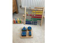 Wooden learning toys x 3