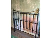 Metal framed double bed. Good condition.