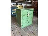 Small Painted Green Four Drawer Chest
