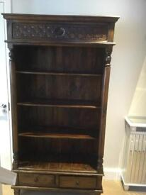 2 Drawer Mahogany Bookcase