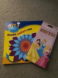 Doodle pad & pencils