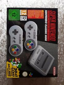 ***SUPER NINTENDO ENTERTAINMENT SYSTEM (SNES) BNIB SNES MINI CLASSIC***
