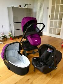 Joie Chrome Travel System And Car Seat Bundle For Sale