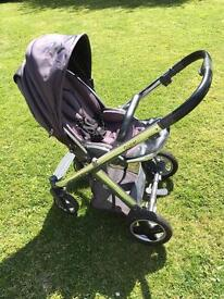 Babystyle Oyster pushchair and carrycot pram
