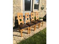 Dining chairs oak lands X 4