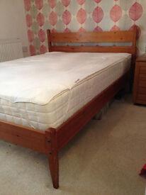 Double Solid Pine Bedframe