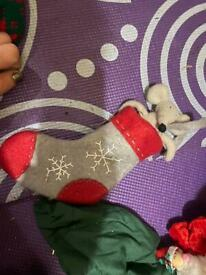Christmas mouse in stocking