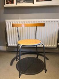 Ikea chair - grey and birch