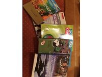 GCSE geography textbooks - set of 4 GCSE textbooks for AQA and Excel exam boards plus dictionary