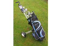 Golf cart, clubs etc. for sale £75